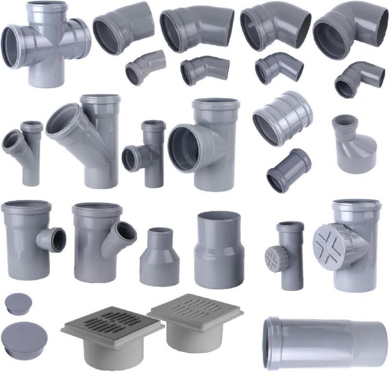 Фитинги, отводы, муфты, крестовины и тройники для внутренней канализации